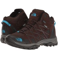 The North Face Storm III Mid WP (Demitasse Brown/Hyper Blue) Women's... (1.915 ARS) ❤ liked on Polyvore featuring shoes, blue shoes, hiking boots, water proof shoes, breathable mesh shoes and the north face