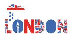 London and Union Jack England Ireland, England And Scotland, London England, British Decor, British Style, Rio Tamesis, Scottish English, You Don't Know Jack, London Illustration