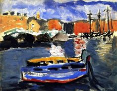Two Boats in Marseilles Harbor Henri Matisse - 1917