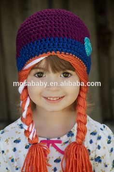 Crochet Princess hat. Elsa And Anna Frozen Hat Sister Frozen Beanie                                                                                                                                                                                 More