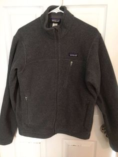Patagonia Synchilla Men's Small Zip Front Jacket Gray  #Patagonia #SynchillaJacket