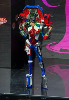 2013 Miss Universe National Costume Show -- Miss USA - Erin Brady: Miss USA, 26, crushed the competition during the National Costume contest at the Miss Universe pageant in a Transformers-style, Optimus Prime costume. The robotic entry definitely represents the stars and stripes in a unique way and was a sight to see during the preliminary competition at the Vegas Mass in Moscow, Russia. Credit: Darren Decker/Miss Universe