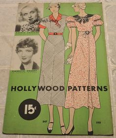 Carole Lombard Claudette Colbert 1933 Hollywood Patterns Unused Store Display | eBay