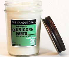 Create an inviting atmosphere in your home by releasing the intoxicating aroma of this unicorn farts scented candle. This hand poured candle is made from all natural wax and is highly scented with a sweet and tangy aroma of vanilla, strawberry, kiwi, and coconut.