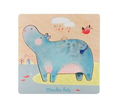 Wooden Hippo Puzzle Les Papoum from Moulin Roty Wooden Toys For Toddlers, Puzzles For Toddlers, Toddler Toys, Kids Toys, Toddler Boy Fashion, Toddler Girl Style, Toddler Girl Outfits, Stylish Baby Clothes, Cute Baby Clothes