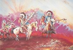 """Dawn Riders""  This day has never been seen. This day has never been told. Yesterday is finished. Tomorrow has not been promised us.  By Gary White Deer Choctaw Native American"