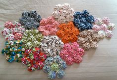 yo yo quilt wip | this picture makes me think I need to star… | Flickr