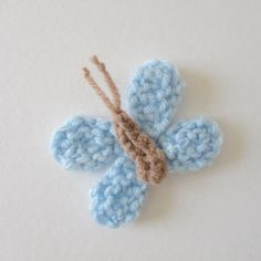 Ravelry: Teeny Butterfly pattern by Amanda Berry - free knitting pattern as… Free Knitting, Baby Knitting, Free Crochet, Knit Crochet, Knitting Patterns, Crochet Patterns, Knitting Toys, Free Pattern, Pattern Design