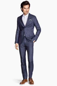 Pantaloni de costum din in | H&M