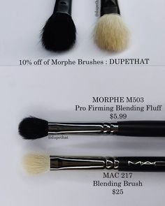 These two brushes couldn't be more similar! They both have natural bristles which are my favorite type of brushes for blending. Have you tried either of these brushes? Do you prefer one over the other? by dupethat