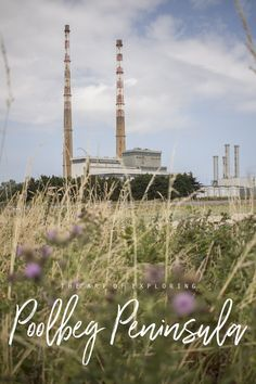 Poolbeg Chimneys on the Poolbeg Peninsula trail in Dublin Ireland Dublin Bay, Dublin Ireland, Travel Around The World, Around The Worlds, Weather Day, Beach Walk, House Colors, Exploring, Traveling By Yourself