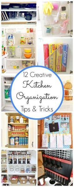 12 Creative Kitchen Organization Tips & Tricks by lori
