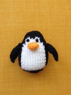 Knitted Penguin Stuffed Toy  Stuffed Animal  by EightLittleFingers, $8.00