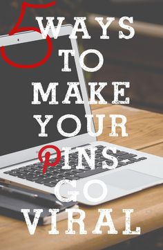 Would you like to see your pins go viral????  Here are 5 Really good tips to Make it happen.....some interesting ideas #pinterest