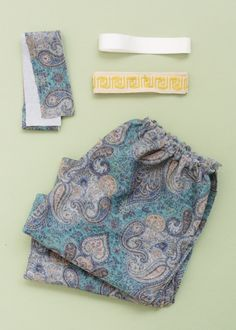 Supplies to sew a waistband; grosgrain in the waistband helps to stabilize and keep garment in place...couture technique