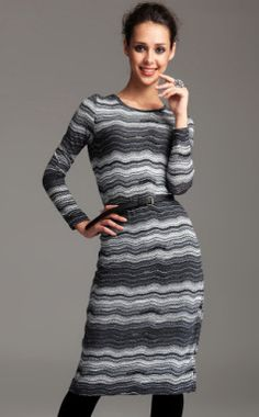TS Printed Belted Midi Bodycon Dress