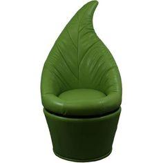 "48"" Green Leaf Swivel Chair"
