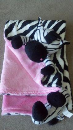 Minkee Minky Baby Animal Zebra Blanket Pink, White, Black, Zebra Print on Etsy, $24.00