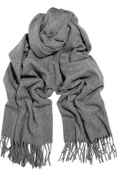 Acne Canada fringed wool scarf