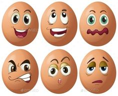 Buy Egg Expressions by interactimages on GraphicRiver. Illustration of egg with expressions Egg Crafts, Easter Crafts, Diy And Crafts, Crafts For Kids, Arts And Crafts, Funny Eggs, Cartoon Faces, Angry Cartoon, Food Cartoon