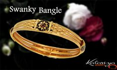 Gorgeous Gold Bangle in 22Kt  Buy Now :http://buff.ly/1KiQyfZ COD Option Available With Free Shipping In India