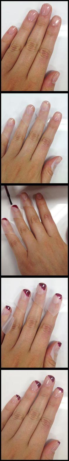 How To: Bias-Cut Nail Art http://primped.com.au/how-tos/hands-nails-how-tos/how-to-bias-cut-nail-art