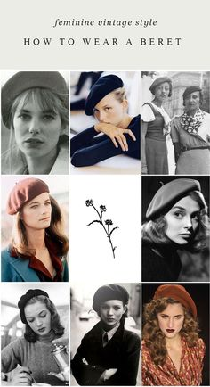 How to Wear A Beret / Feminine Vintage Inspired Style Ideas – Adored Vintage Source by ideas vintage Outfits With Hats, Stylish Outfits, Fashion Outfits, Beret Outfit, Vintage Outfits, Vintage Fashion, Vintage Style, Vintage Wear, French Vintage