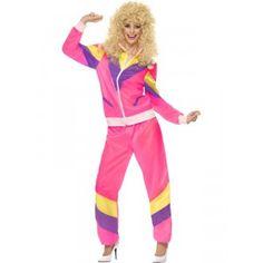 COSTUME FEMME ANNEES 80 TENUE DE SPORT TM - Ce déguisement année 80 de tenue de sport comprend une veste et un pantalon.