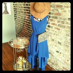 Dresses - My Favorite Hue is Jay-Z Bleu -High Low Dress