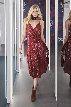 Elsa Hosk walk for DVF FALL WINTER 2016 Fashion Show  Zhiboxs.com