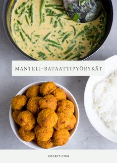 Bataatti-mantelipyörykät viljattomasti ja vegesti - Vege it! Always Hungry, Yams, Dinner Tonight, Bon Appetit, Vegetarian Recipes, Food And Drink, Veggies, Lunch, Cooking