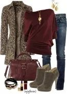 Burgundy is my fav. It looks good with everything Cute Fashion, Fashion Outfits, Womens Fashion, Fashion 2015, Fashion Lookbook, Fall Winter Outfits, Autumn Winter Fashion, Casual Winter, Casual Summer
