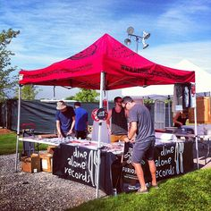 Were you at this year's Edgefest? We definitely were - with vinyl and merch in tow. Alone, The Office, Gazebo, Outdoor Structures, Dining, Summer, Food, Summer Time, Deck Gazebo