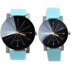 Men and Women Quartz Dial Clock Leather Wrist Watch Round Case very low price! $11.00 #style #watches #fashion #shoppingonline