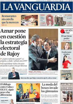 Diario LA VANGUARDIA del 24 de Enero 2015 Recordamos que pueden visualizar cada día las principales portadas titulares ocurridos en España - Catalunya - Barcelona en http://www.youtube.com/vendopor