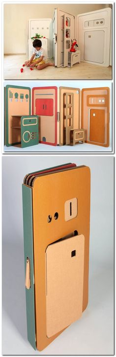 Children expandable cardboard, designed by Liya Mairson.