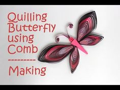 Colorful Quilling Butterfly - Tutorial using Comb. DIY: How to make a Beautiful Paper Quilled Butterfly using Combing Technique. Quilling Butterfly, Quilling Comb, Paper Quilling Jewelry, Quilling Earrings, Paper Quilling Designs, Quilling Paper Craft, Paper Earrings, Quilling Patterns, Butterflies