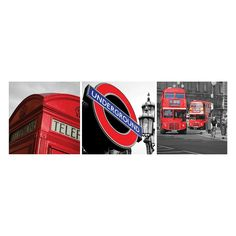 Nexxt Shutter Canvas Prints London Wall Art Set, Multicolor