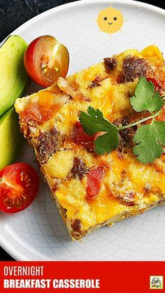 Looking for an easy overnight breakfast casserole recipe? This one is made with bread, bacon, sausage, cheese, and eggs. Perfect for a crowd! Overnight Breakfast Casserole, Breakfast Casserole Sausage, Casserole Dishes, One Pot Dishes, One Pot Meals, Bacon Sausage, Easy Food To Make, Dairy Free Recipes, Appetizers For Party