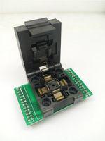 2 pcs / lot QFP48 TQFP48 LQFP48 Clamshell Programming socket Pitch 0.5mm FPQ-48-0.5-06 Test Socket Flash Adapter Size 7*7mm