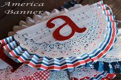 America Banner - Summer Scraps
