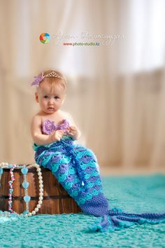 little mermaid, crochet mermaid costume, baby girl, baby photo ideas, kids photo ideas, photo inspiration