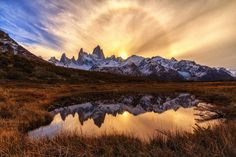 "Ring of Fire | Fitz Roy Patagonia Argentina - by Matthias ""MH"" Huber [1200x900] [OC]   landscape Nature Photos"