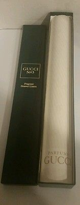RARE Vintage GUCCI No. 3 Perfume Scented Drawer Liners With Presentation Box