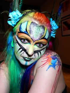 tribal look- face paint by Painted Mistress
