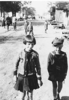 Boy and girl in the street, Trochenbrod.