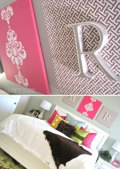 DIY monogram art! I'm seriously doing this project this weekend just bought the supplies =D