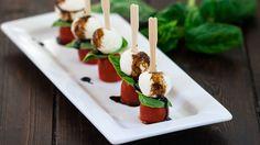 Mini Caprese Salad Bites - a most delicious salad served in a most elegant way.