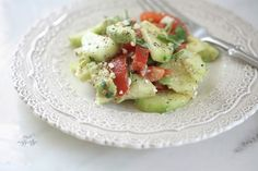 Fresh cucumber salad Easy to make and enjoy every day of the week Tomato Healthy Recipe Avocado