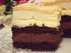 Delicious Cake Recipes, Yummy Cakes, Sweet Recipes, Yummy Food, Sweet Cooking, Different Cakes, Polish Recipes, Food Cakes, Sweet Cakes